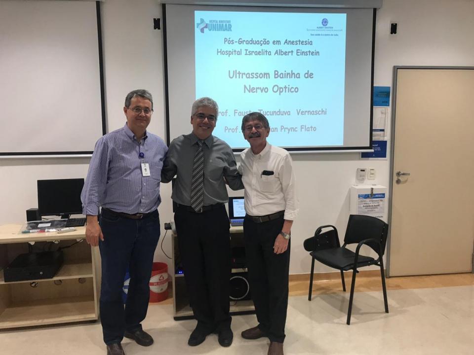 Médicos do HBU ministram aula no Hospital Israelita Albert Einstein