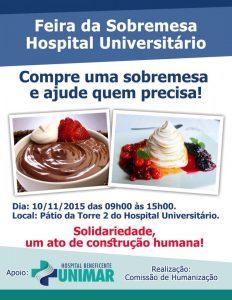 HBU realiza 2ª edição da Feira da Sobremesa