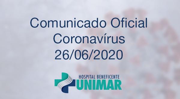 Comunicado Oficial COVID-19 26/06/2020