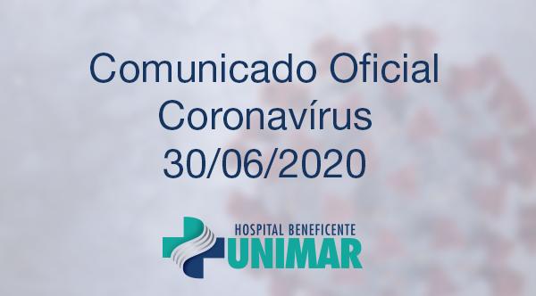 Comunicado Oficial COVID-19 30/06/2020