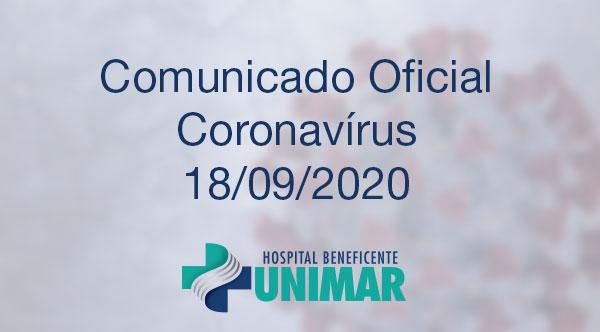 Comunicado Oficial COVID-19 18/09/2020
