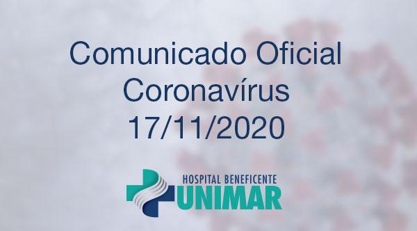 Comunicado Oficial COVID-19 17/11/2020