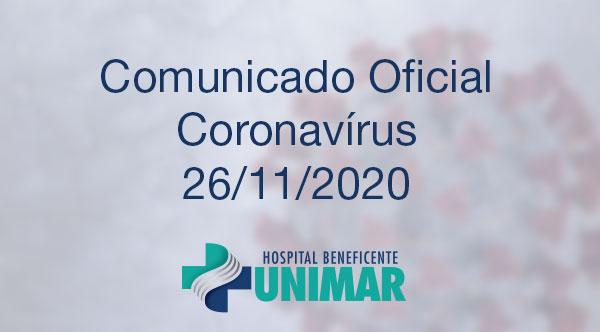 Comunicado Oficial COVID-19 26/11/2020