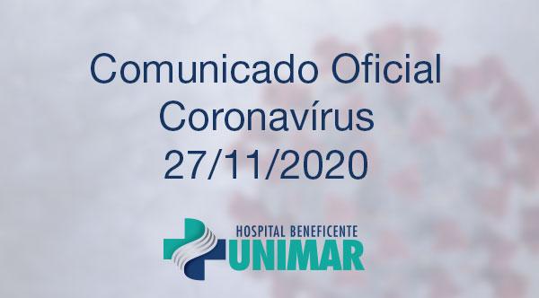 Comunicado Oficial COVID-19 27/11/2020