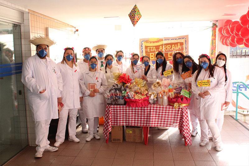 HBU é palco de ação sobre conscientização e doação de sangue com temática junina