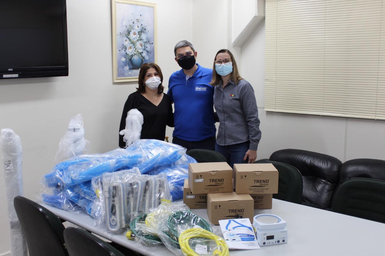 Dori realiza doação de equipamentos para as UTI's do HBU